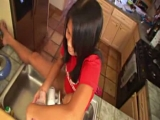 Asian chick stripping ...