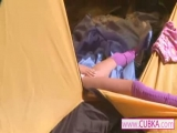 Loly jerking off in th...