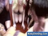 Lucky guy fucked at reversed gangbang Thumbnail