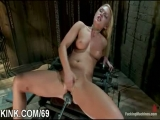 Busty pretty hot girl gets punished fucked in bondage Thumbnail