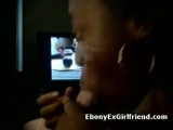 Horny black woman gives her boyfriend a great blowjob Thumbnail