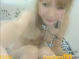 Tight little Jap pussy gets a massive vibrator inside Thumbnail