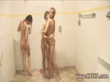Three chicks in the shower Thumbnail