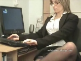 secretary in stockings upskirt flashing Thumbnail