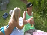 Lezzies fingering pussies outdoors Thumbnail