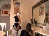Maid fucking in her un...