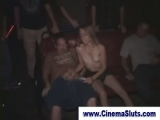 Exhibitionist gangbang in porn theater Thumbnail