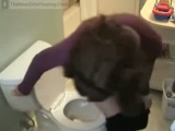 hot lady farting pooping on toilet Thumbnail