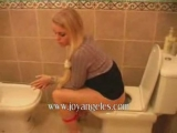 Sexy lady farting pooping on toilet 4 Thumbnail