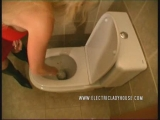 Sexy lady farting pooping on toilet 5 Thumbnail