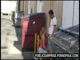 Girl fucked beside bin...