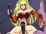 Anime babe double drilled with toys Thumbnail