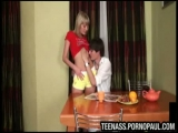 Skinny teen banged in ...