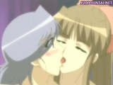 Anime lesbos playing with a strapon Thumbnail