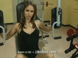 Sucking dick in the gym