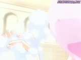 Tied up anime redhead gets cumshot Thumbnail