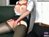 Two animated girls pleauring a cock Thumbnail
