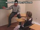 Schoolgirl is spanked ...