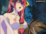Anime redhead get pounded by a cock Thumbnail