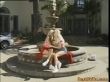 Blonde lesbians toying...