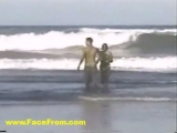 young couple want fuck on the beach Thumbnail