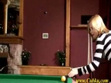 fingering on the pool table Thumbnail