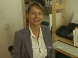 British MILF secretary in stockings masturbating at work Thumbnail