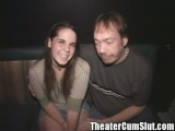 Brunette cutie April Gets Fucked in a Porn Theater Thumbnail