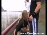 groupen outdoor sex with two blondes Thumbnail