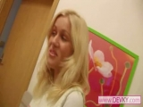 Czech blonde babe give...