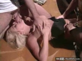 Lusty busty chick nailed in threesome Thumbnail