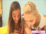 Two hot teenies toying