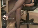 secretary in stockings changes her panties Thumbnail
