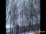 Girl naked in the snow Thumbnail