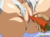 Anime babe drilled with a carrot Thumbnail