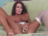 MILF with nipple rings and stockings Thumbnail
