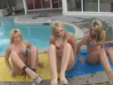 Three hot pornstars rubbing clits Thumbnail