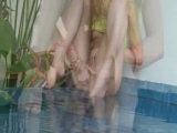 fingering next to poolside Thumbnail