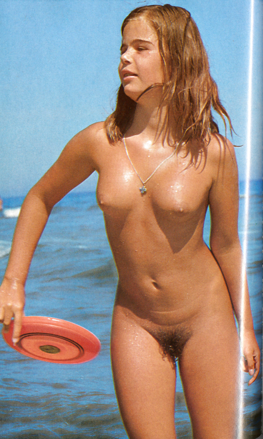 young retro nudist girl